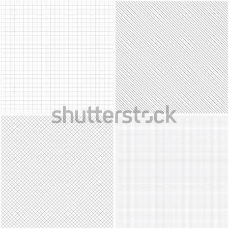Set of vector grid seamless patterns. Stock photo © ExpressVectors