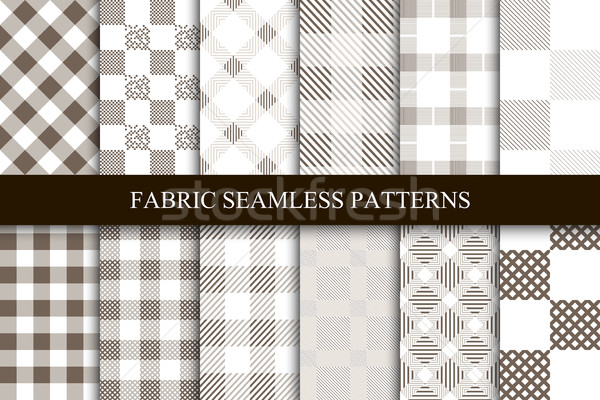 Collection of textile seamless patterns. Stock photo © ExpressVectors