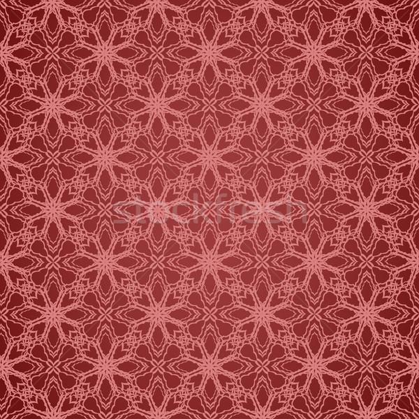 геометрическим рисунком цветочный шаблон дизайна девушки Сток-фото © ExpressVectors