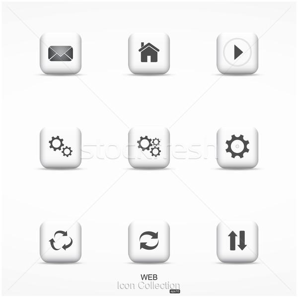 Web icon collection. Stock photo © ExpressVectors