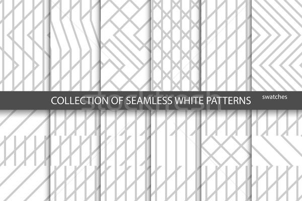 Ensemble géométrique monochrome horizons Photo stock © ExpressVectors