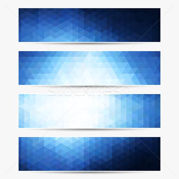 Vecteur bannière ensemble pas gradient transparence Photo stock © ExpressVectors