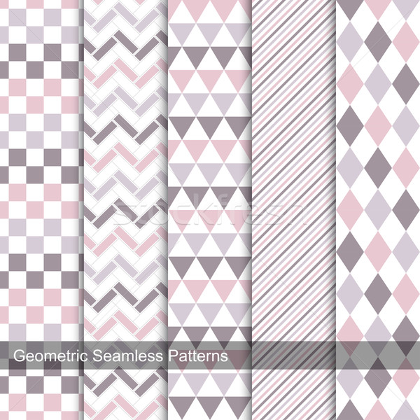 Collection of delicate seamless patterns. Stock photo © ExpressVectors
