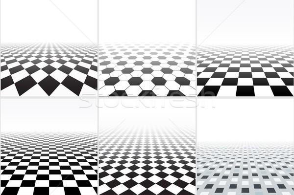 Vektor csempézett padló gyűjtemény absztrakt hátterek Stock fotó © ExpressVectors