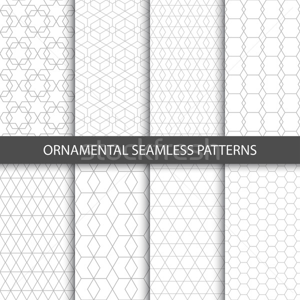 Ornamental seamless patterns - vector collection.  Stock photo © ExpressVectors