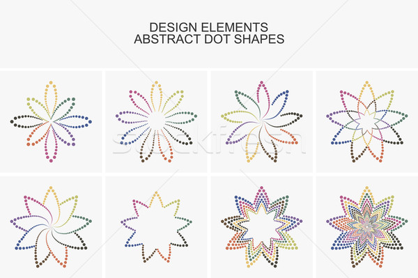 Abstract colorful dot shapes. Stock photo © ExpressVectors