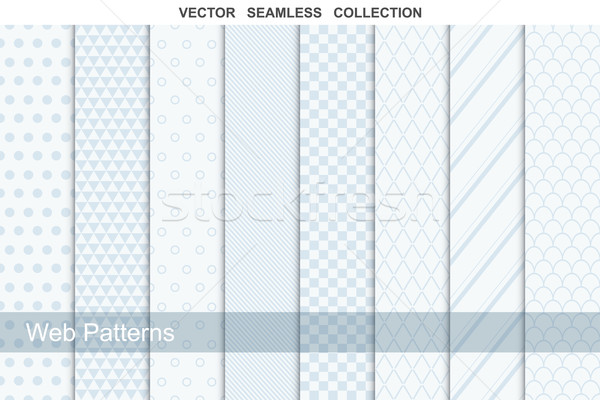 Geometric seamless patterns in soft colors. Vector collection. Stock photo © ExpressVectors