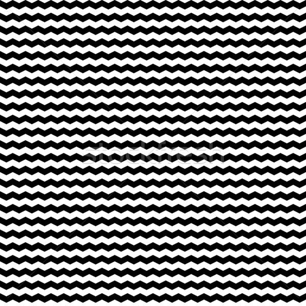 Zigzag patrón sin costura vector blanco negro textura Foto stock © ExpressVectors