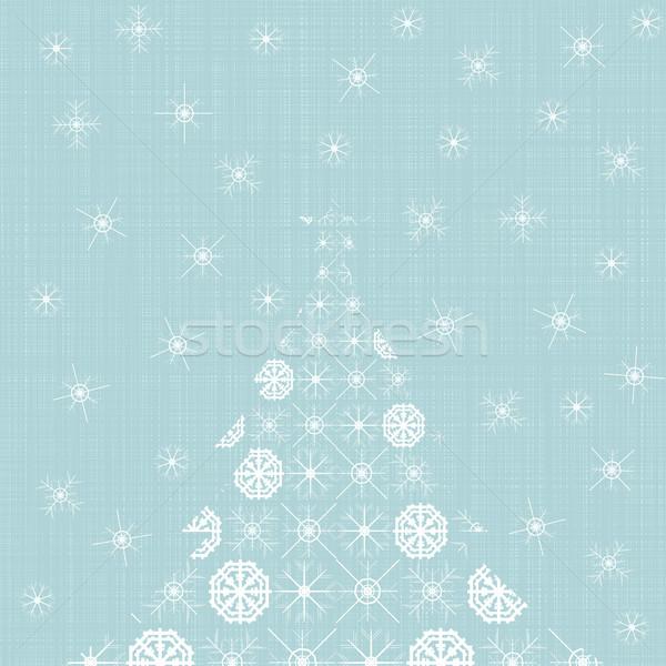 Origami albero di natale carta fiocchi di neve vintage stile Foto d'archivio © ExpressVectors