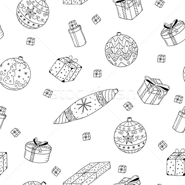 クリスマス 贈り物 いたずら書き スタイル 子供 ストックフォト © ExpressVectors