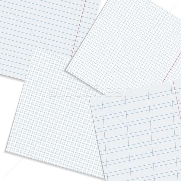 Vector paper workspace. Stock photo © ExpressVectors