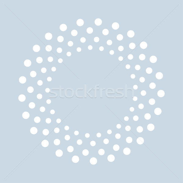 Abstract dotted shape.Vector design element. Stock photo © ExpressVectors