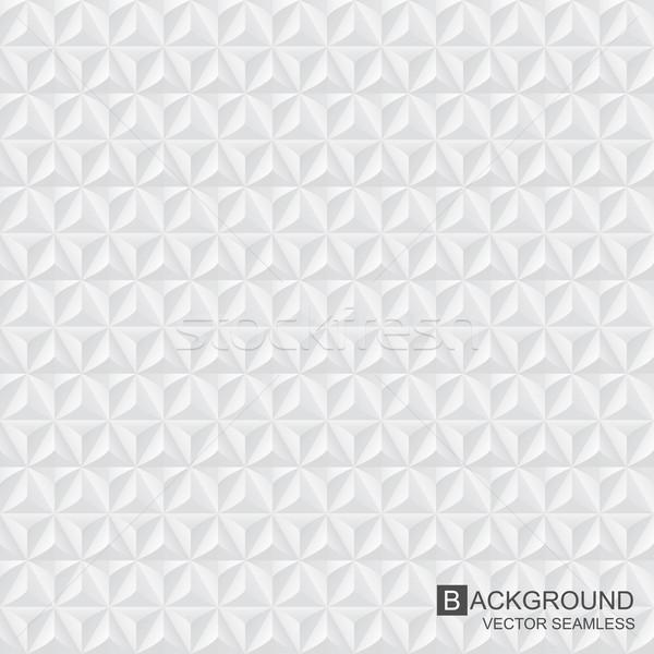 Foto stock: Geométrico · sin · costura · blanco · gris · textura · pared