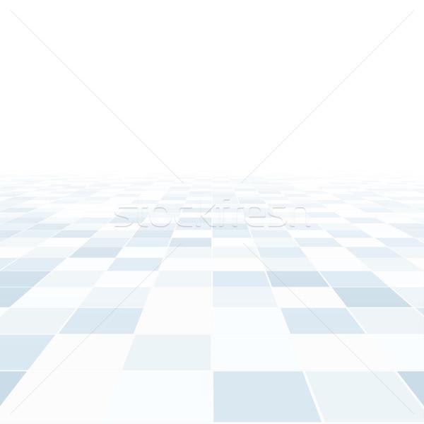 Streszczenie perspektywy niebieski Płytka piętrze działalności Zdjęcia stock © ExpressVectors