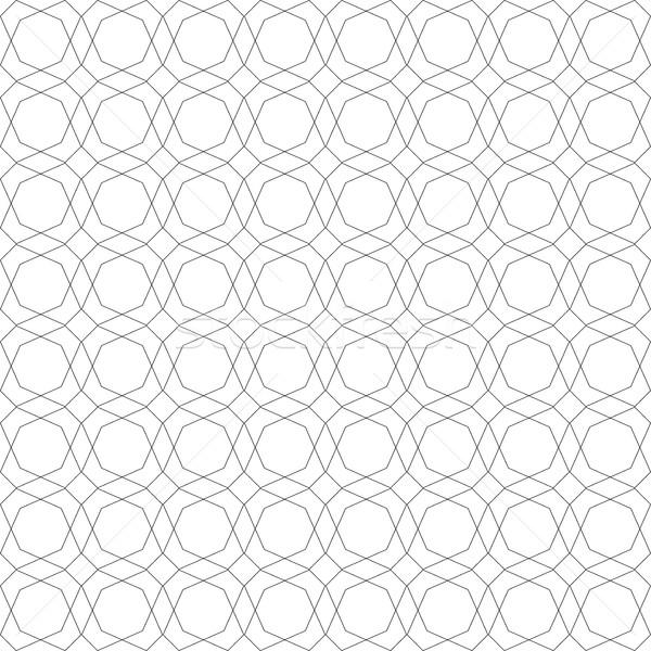Körvonal geometrikus minta végtelenített vektor fehér szürke Stock fotó © ExpressVectors