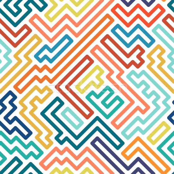 Rayé coloré motif géométrique vecteur technologie Photo stock © ExpressVectors