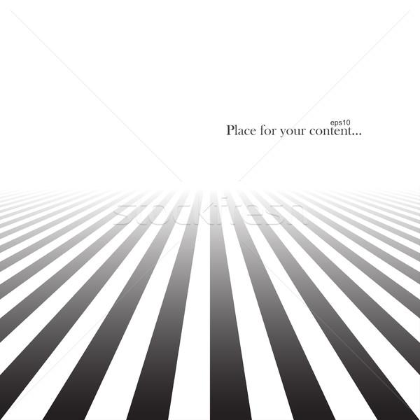 Soyut çizgili perspektif siyah beyaz doku arka plan Stok fotoğraf © ExpressVectors