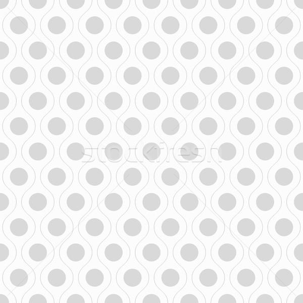 Seamless wavy pattern with dots. Stock photo © ExpressVectors
