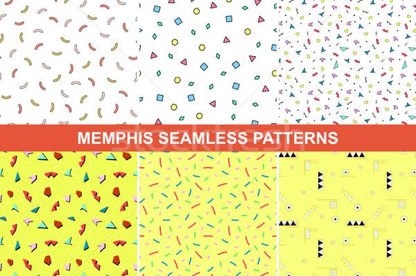 Set of memphis patterns. Stock photo © ExpressVectors