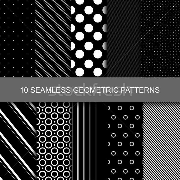 ストックフォト: 10 · 暗い · 幾何学的な · サークル · 紙