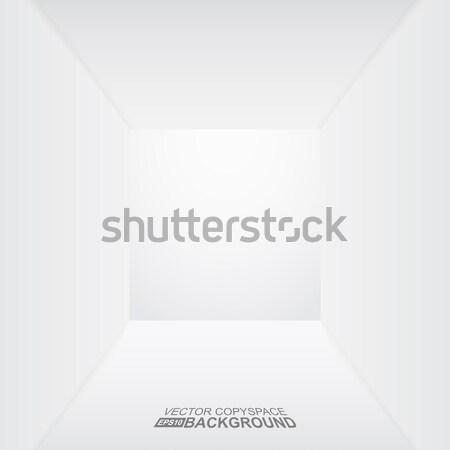 Beyaz bo eps10 benzer 3D oda Stok fotoğraf © ExpressVectors