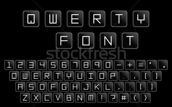 Qwerty minimalistic alphabet. Similar to computer keyboard. Stock photo © ExpressVectors