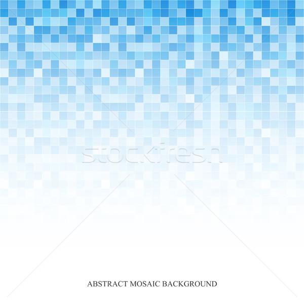 Digitális absztrakt mozaik világoskék textúra divat Stock fotó © ExpressVectors