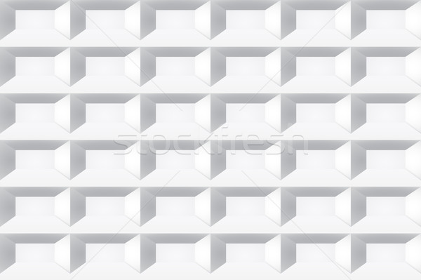 Stock photo: White tile texture. Seamless geometric background.