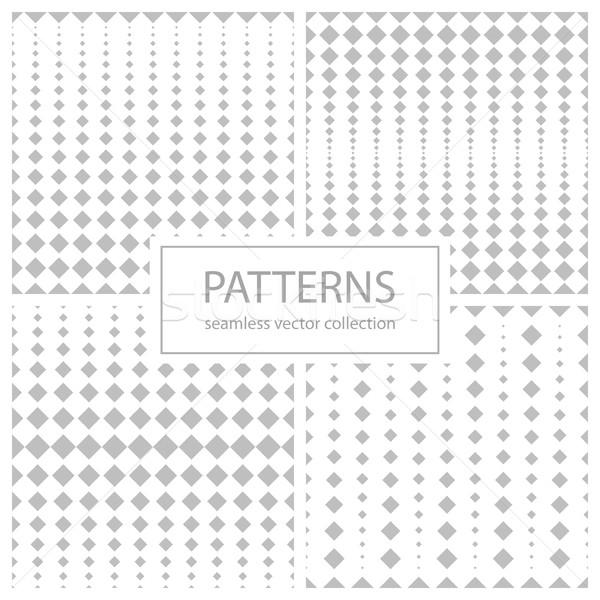 Ensemble en demi-teinte géométrique modèles mouvement Photo stock © ExpressVectors