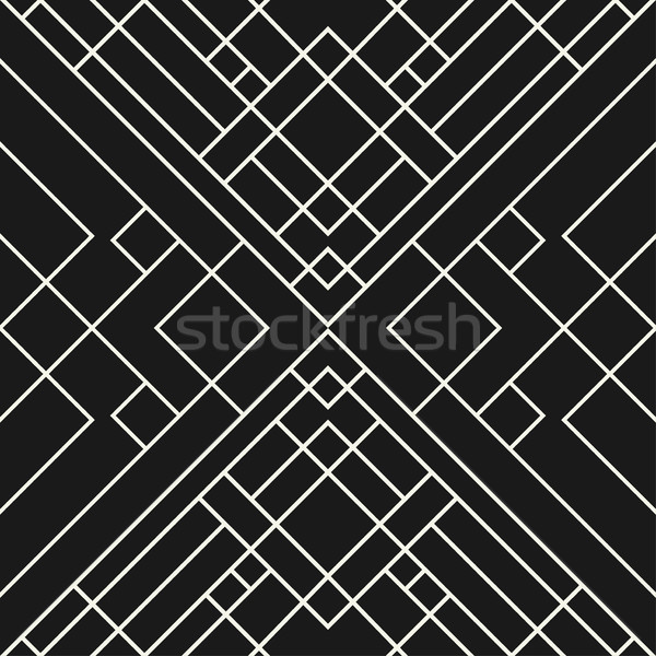 Grid zwarte abstract naadloos geometrisch patroon Stockfoto © ExpressVectors