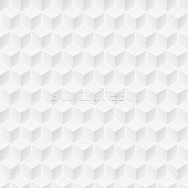 白 テクスチャ キューブ シームレス 幾何学的な 3D ストックフォト © ExpressVectors
