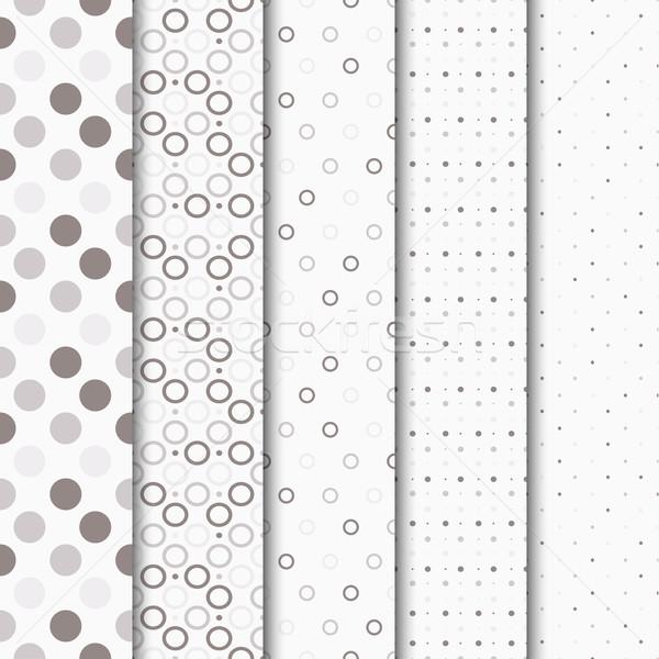 Foto stock: Círculos · vector · papel · textura · luz