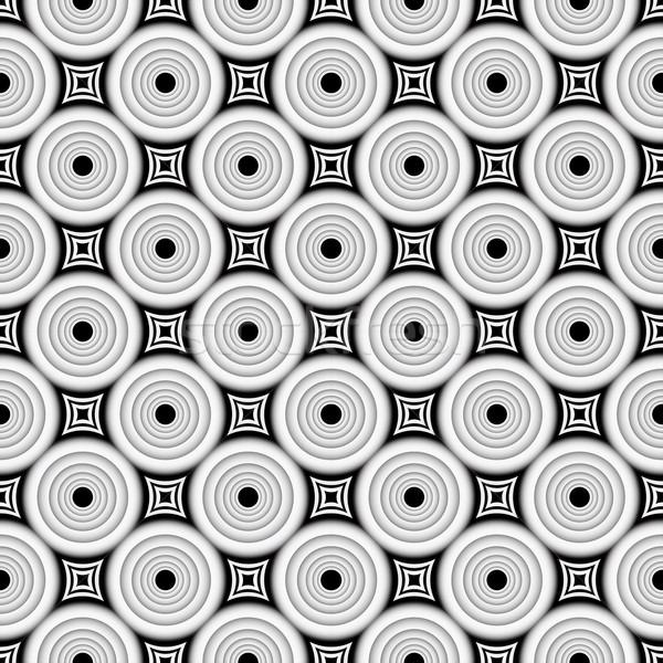 Illusie geometrisch patroon naadloos vector weefsel behang Stockfoto © ExpressVectors