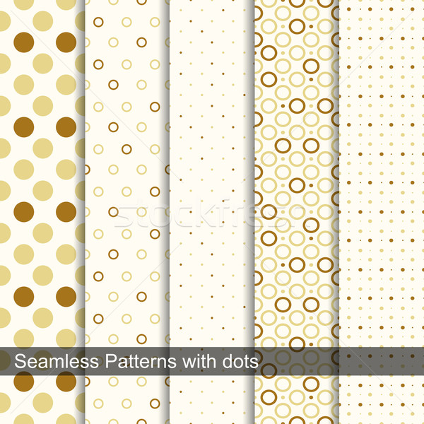 Seamless retro patterns with circles and dots. Stock photo © ExpressVectors