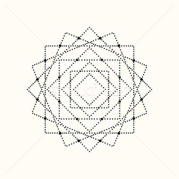 Wektora kropkowany geometryczny eps10 Zdjęcia stock © ExpressVectors