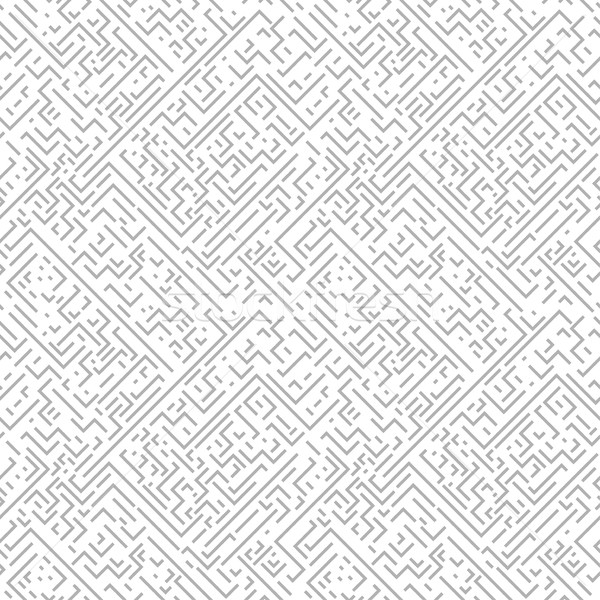 Geometric seamless pattern. Gray background with zigzags and stripes. Stock photo © ExpressVectors