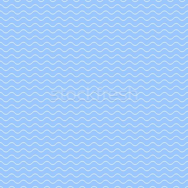 Niebieski wzór fali bezszwowy falisty proste tekstury Zdjęcia stock © ExpressVectors
