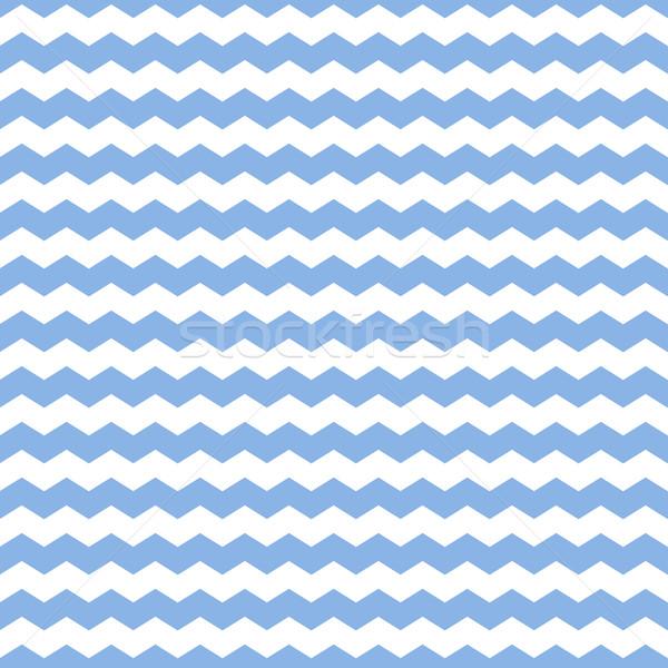 Azul zigzag textura sin costura simple vector Foto stock © ExpressVectors