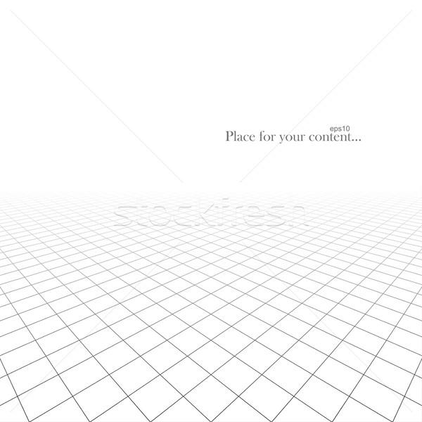 Blanche infini grille carrelage surface eps10 Photo stock © ExpressVectors