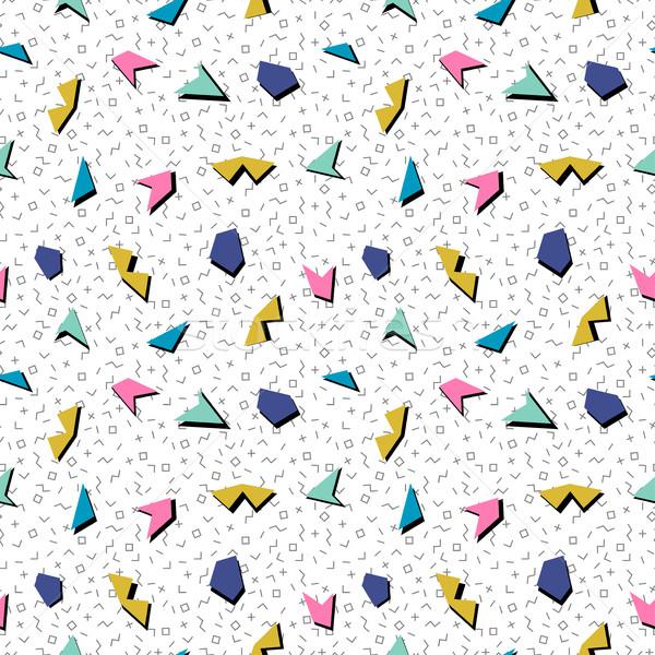 Stock fotó: Vektor · absztrakt · mozaik · végtelen · minta · szín · mértani