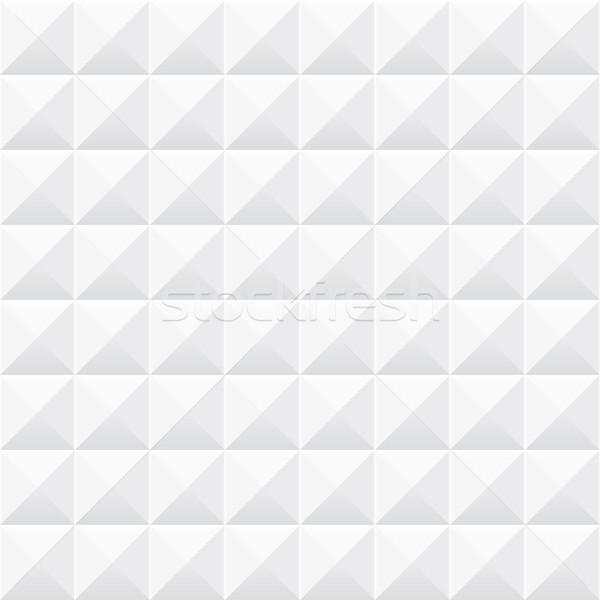 White geometric texture. Seamless 3d pattern. Stock photo © ExpressVectors