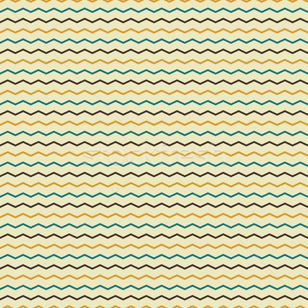Zikzak Retro renk çizgili kâğıt Stok fotoğraf © ExpressVectors