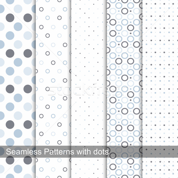 Delicate dotted patterns. Stock photo © ExpressVectors