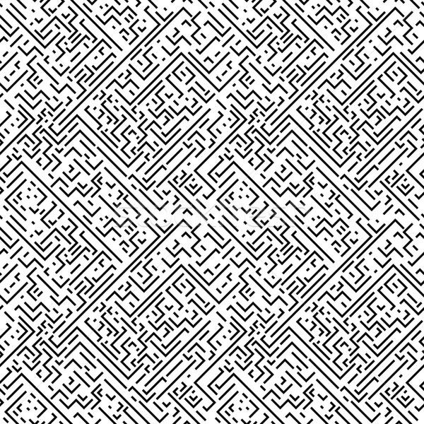 Meetkundig zwart wit gestreept textuur Stockfoto © ExpressVectors