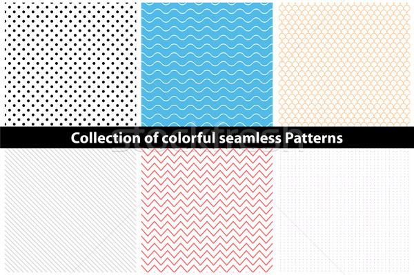 Gyűjtemény egyszerű színes végtelenített minták eps10 háttér Stock fotó © ExpressVectors