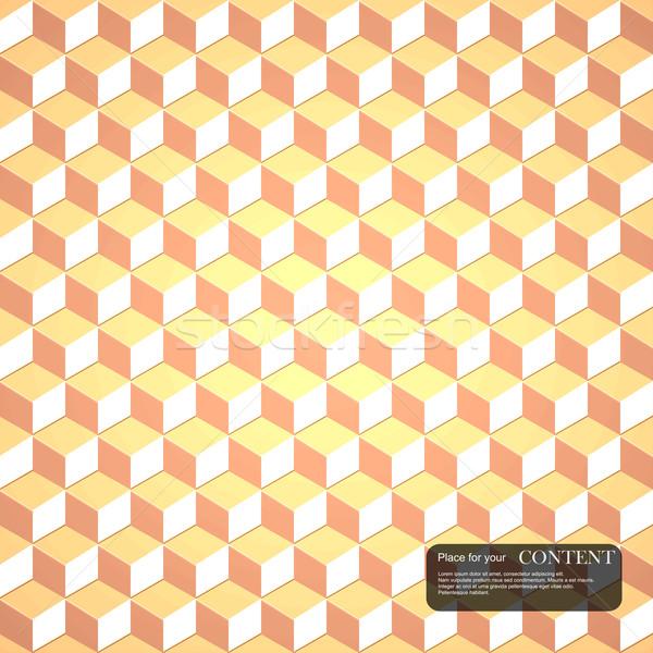 3d cubes gold pattern.  Stock photo © ExpressVectors