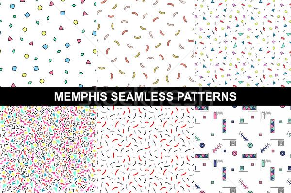 Coleção abstrato colorido padrões mosaico formas Foto stock © ExpressVectors