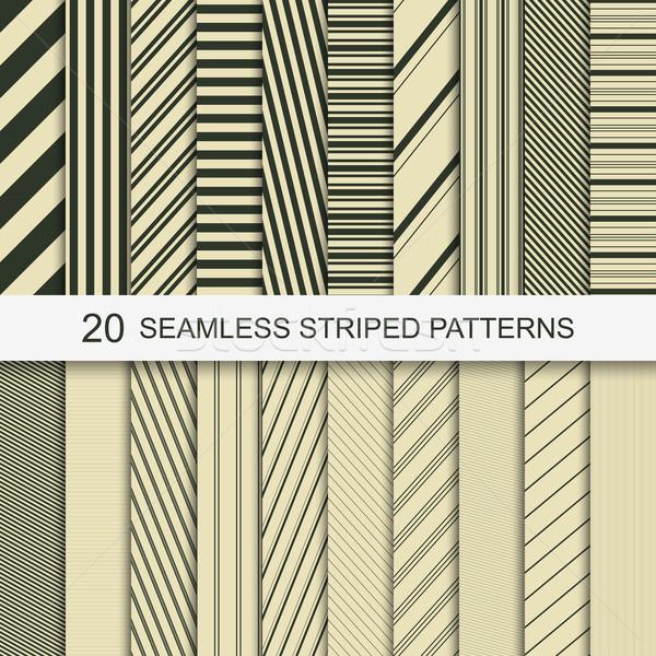 20 бесшовный полосатый структур набор вектора Сток-фото © ExpressVectors