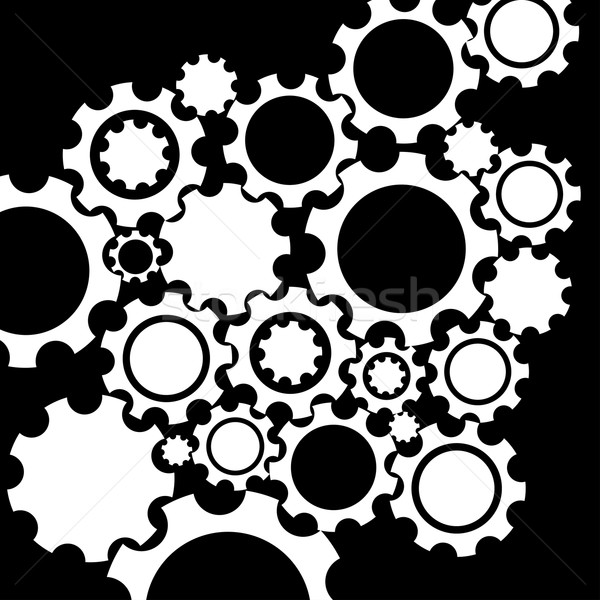 Black gears mechanism background. Stock photo © ExpressVectors