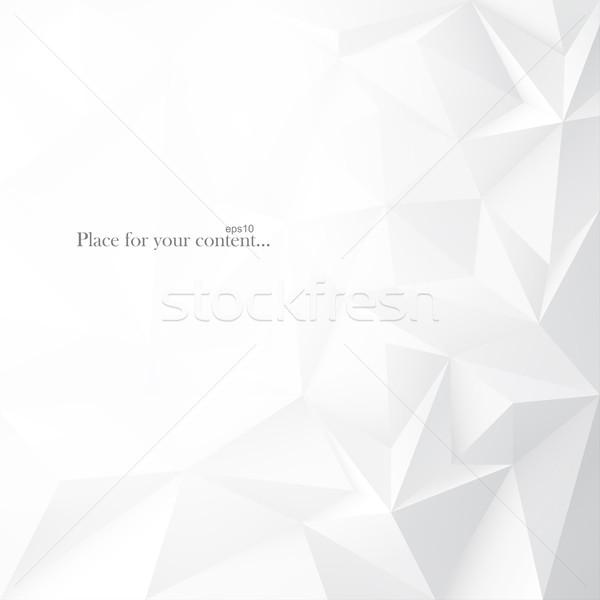 幾何学的な 抽象的な 光 白 3D ストックフォト © ExpressVectors